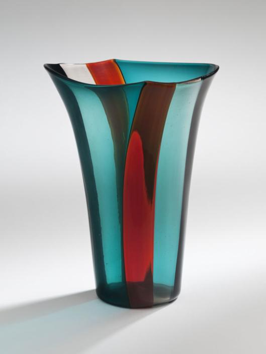 Fulvio Bianconi/Venini, Vase A fasce verticale, Entwurf 1951, Kunstsammlungen der Veste Coburg © VG Bild-Kunst, Bonn 2019 © Foto: Kunstsammlungen der Veste Coburg