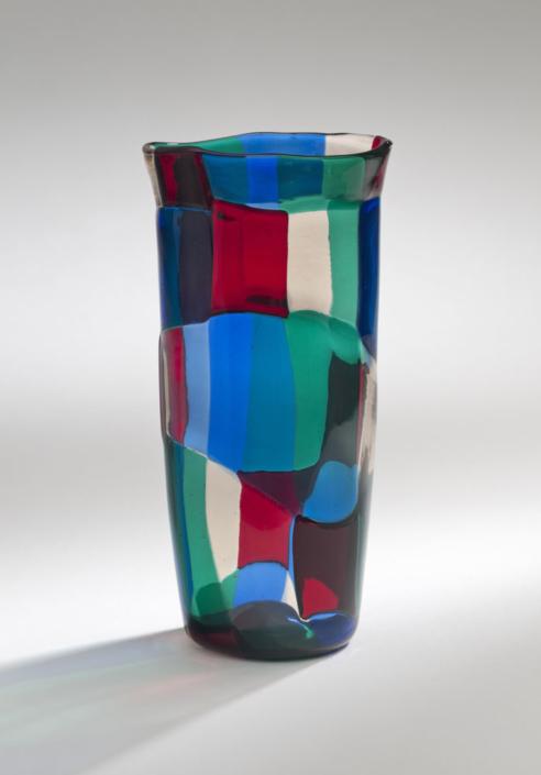 Fulvio Bianconi/Venini, Vase, Entwurf 1951, Kunstsammlungen der Veste Coburg © VG Bild-Kunst, Bonn 2019 © Foto: Kunstsammlungen der Veste Coburg